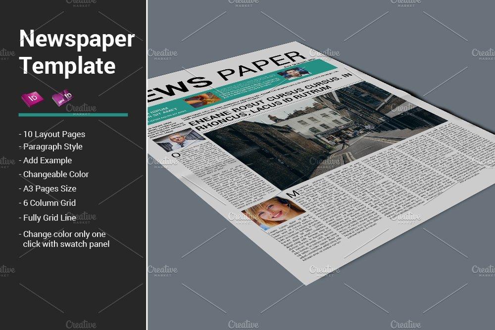 Newspaper Template Templates Creative Market