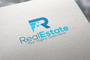 Letter R | Real Estate Logo