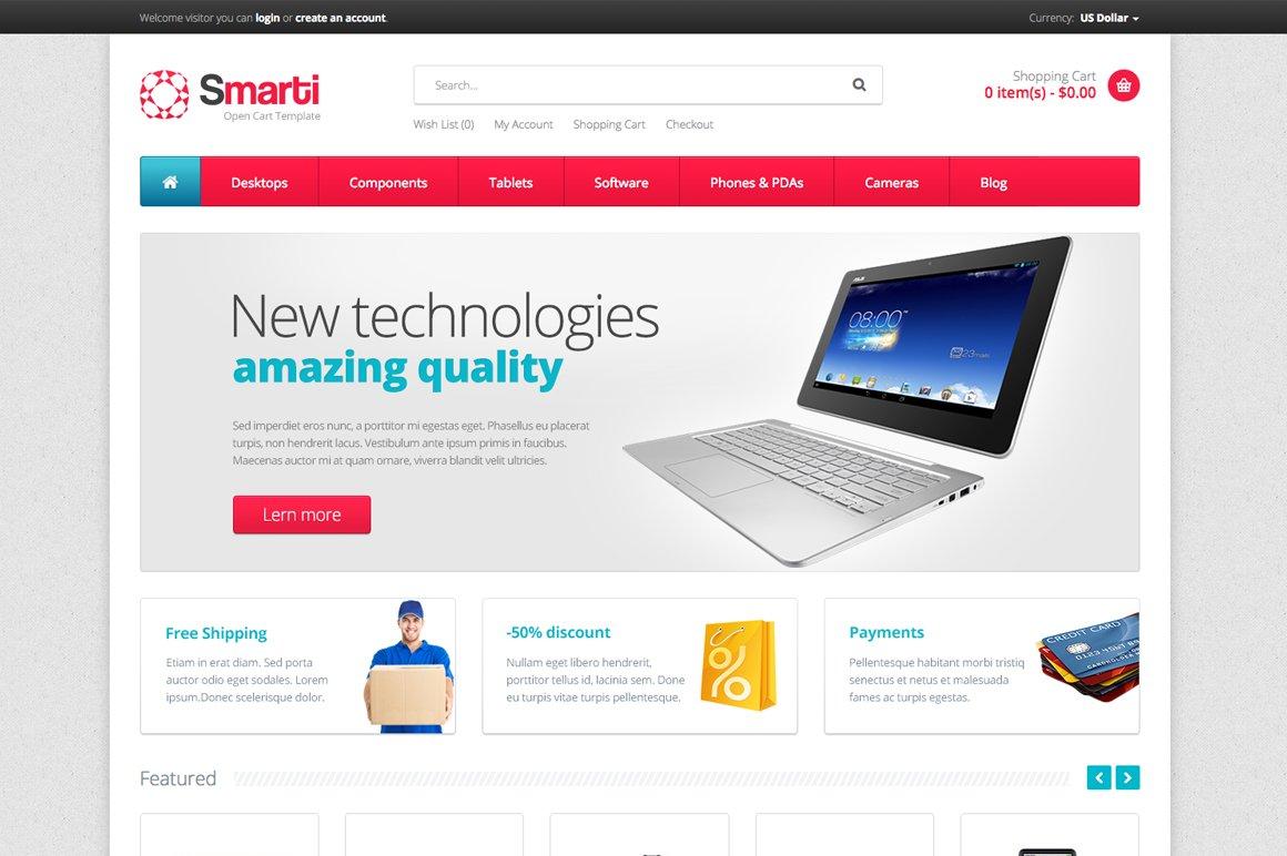 Smarti - Premium OpenCart Template ~ OpenCart Themes ~ Creative Market