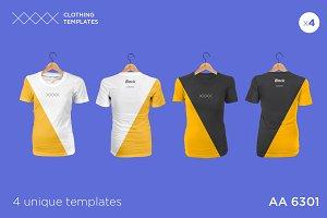 AA 6301 - Womens blank t-shirt set