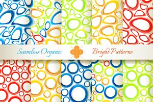 10 Shiny Organic Seamless Patterns