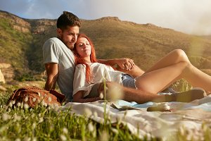 Loving young couple relaxing