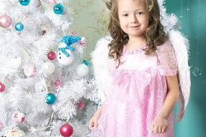 Waiting for Christmas: a little girl
