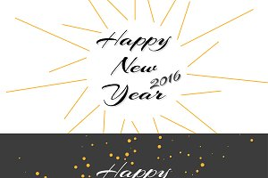 Happy New Year Holiday Illustration