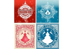 Christmas cards set.