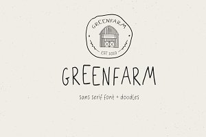 Greenfarm Rustic Font Logos Doodles
