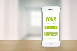 White iPhone 5 mockup template