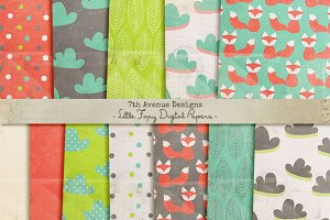 Little Foxy Digital Papers