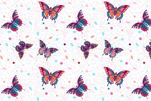 "Seamless pattern ""Butterflies"""