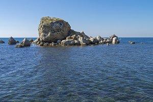 Small island. Black Sea, Crimea.