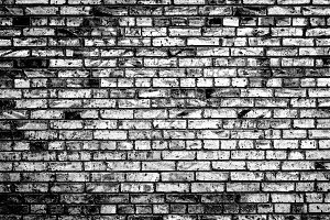 Black and white brick wall texture