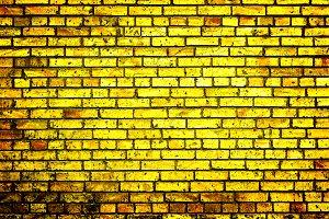 Texture of golden brick wall