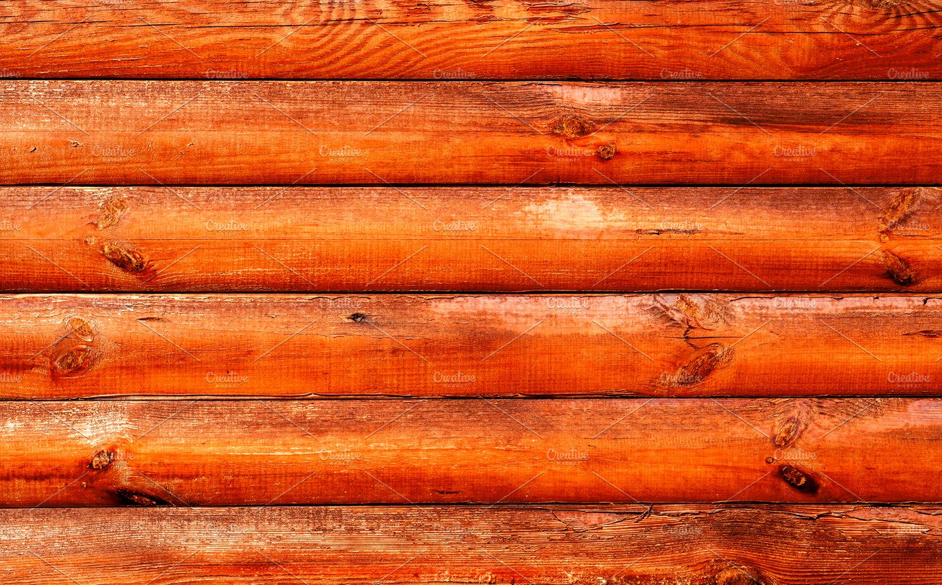 Log house red wood texture abstract photos