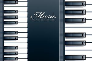 Vector Piano Background