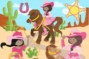 Cowgirls Clipart AMB-1136