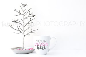 Bird Branch Coffee Cup Styled Photo