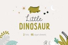 Little dinosaur | Cute Font