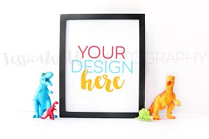 Frame Dinosaur Toy Styled Photo