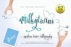 Milkytwins Modern Wave Calligraphy