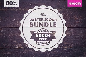 6000+ icons in Icojam Raster Bundle