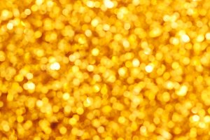 Gold defocused lights