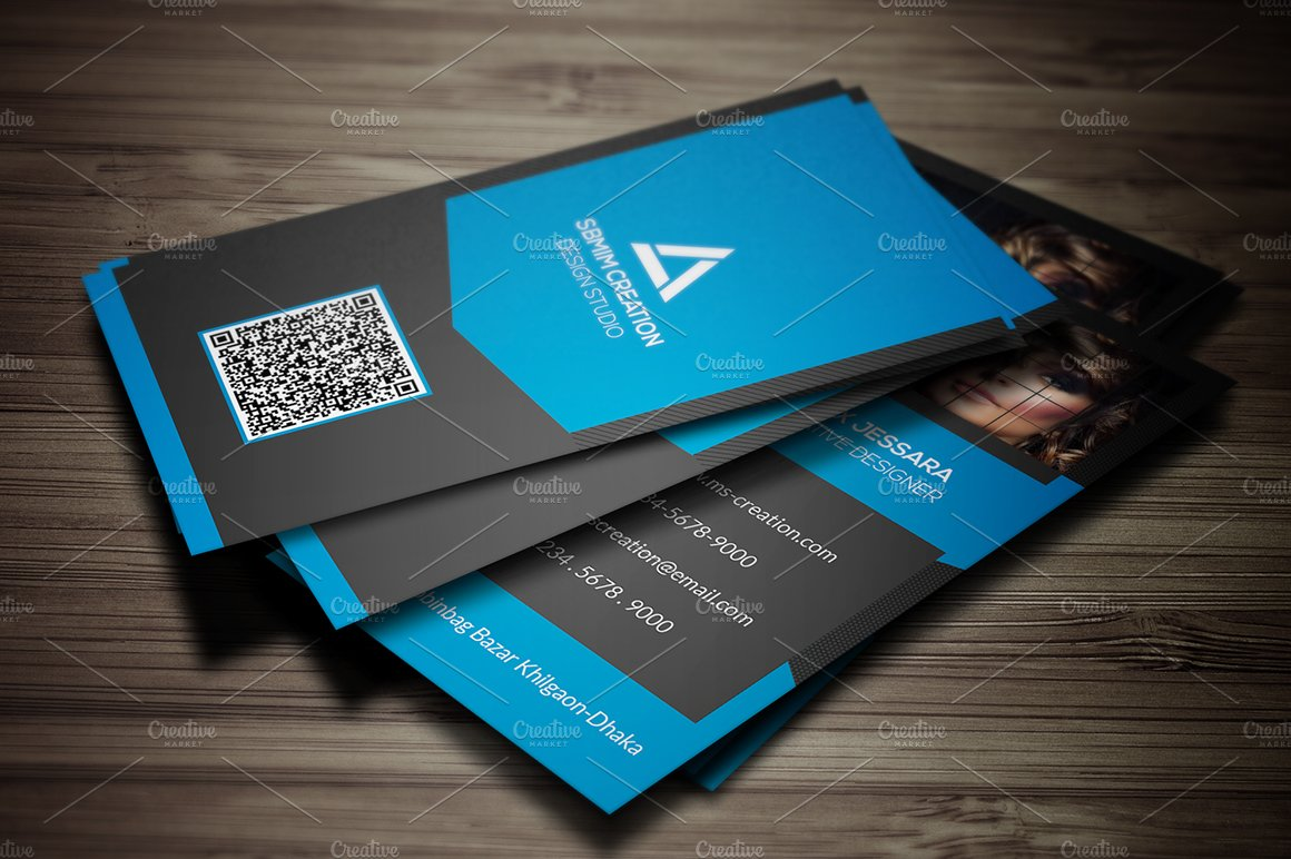 Vertical Photography Business Card ~ Business Card Templates ...