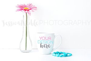 Coffee Cup Flower Jewelry Photo