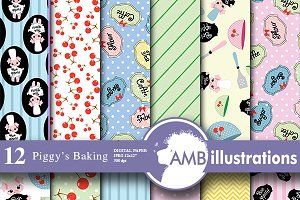Baking Digital Papers AMB-515
