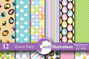 Easter Parade digital paper AMB-391