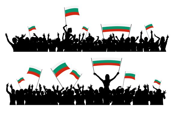 Cheering Crowd Bulgaria in Illustrations - product preview 1