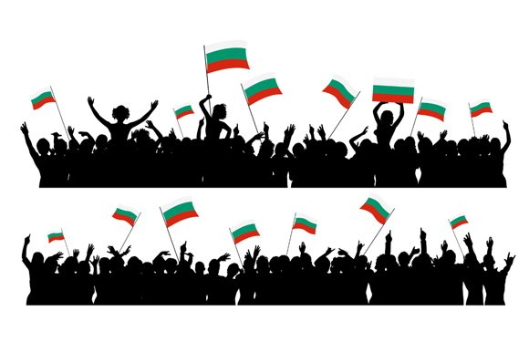 Cheering Crowd Bulgaria in Illustrations - product preview 2