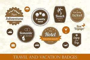 Travel and vacation badges