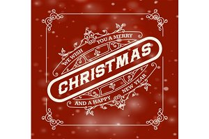 Christmas greeting card background.
