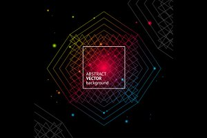 Light Geometry Background. Vector