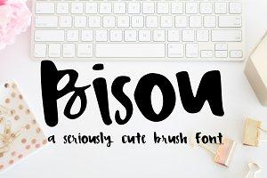 Bisou Script Handwritten Brush Font