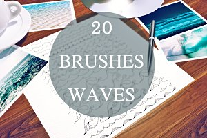 20 brushes waves (for illustrator)