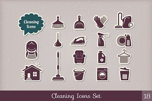 Cleaning and housework icons