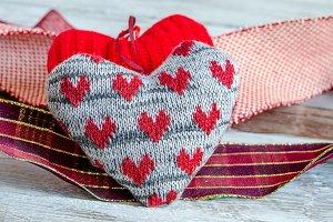 corazon de tela san valentin