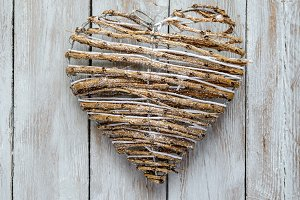corazon,decoracion de navidad (2)