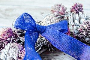 lazo azul de navidad