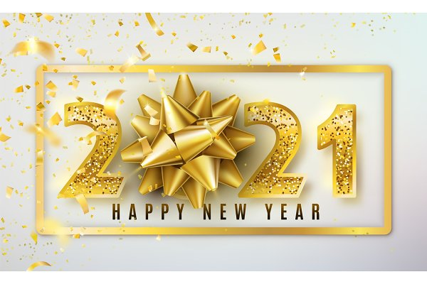 2021 Happy New Year vector | Pre-Designed Vector Graphics ...