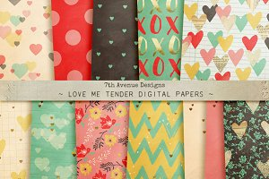 Love Me Tender Digital Papers