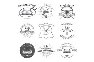 Auto Upholstery Vintage Badges