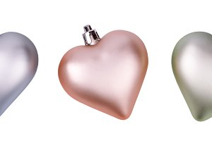 Baubles in the form of hearts