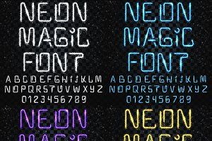 Font magic. Bright, shiny font