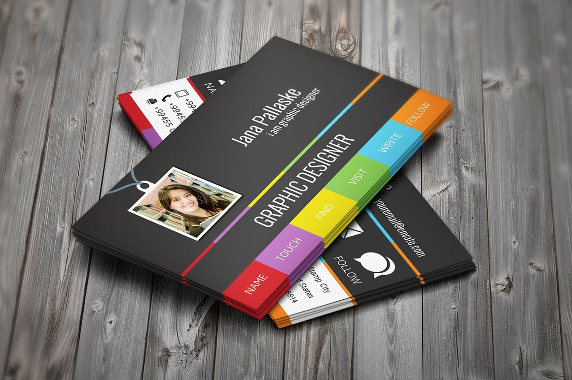 Personal business card business card templates creative market colourmoves