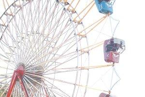Summer ferris wheel vertical