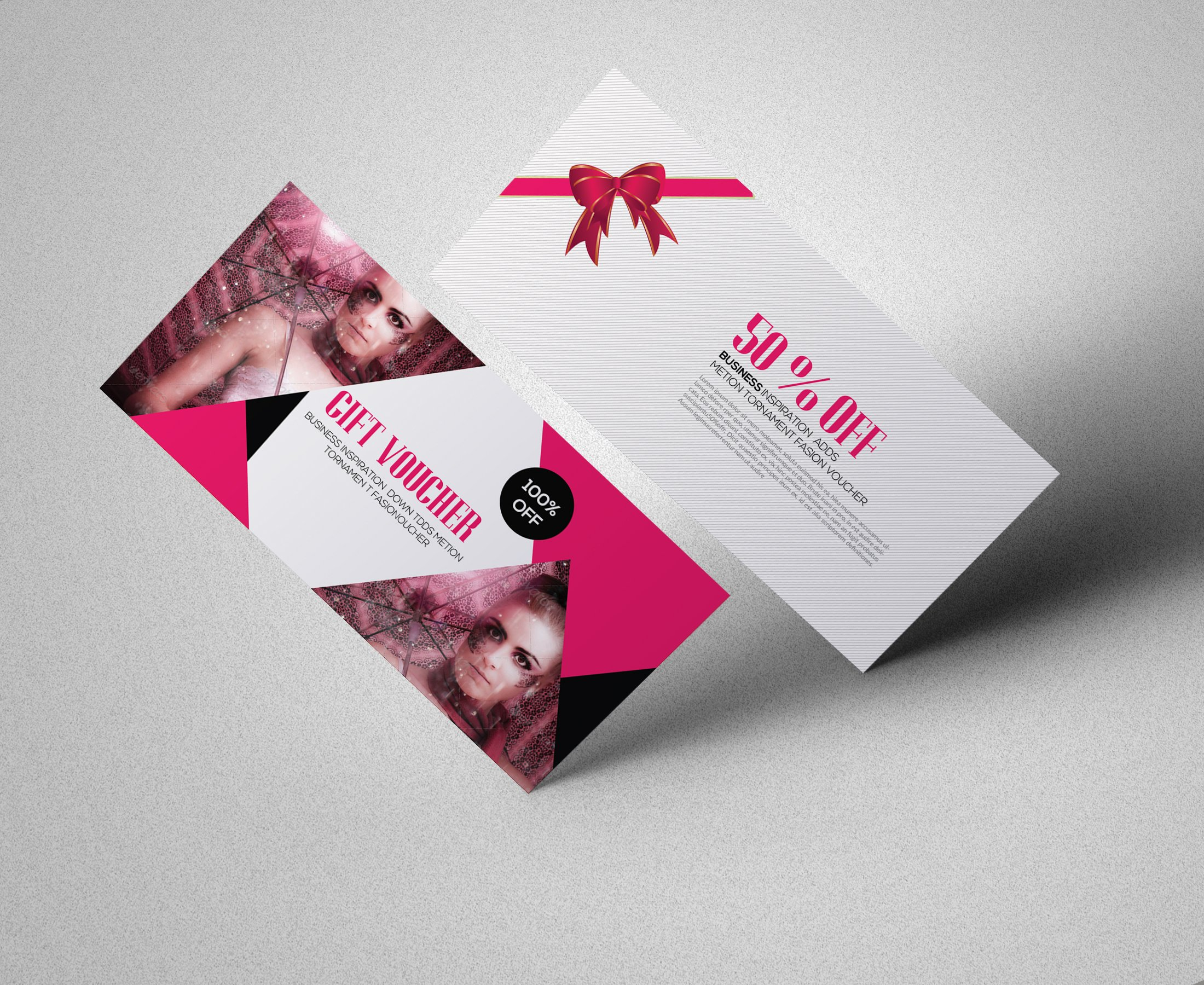 Fashion gift voucher card templates creative market fashion gift voucher template alramifo Images