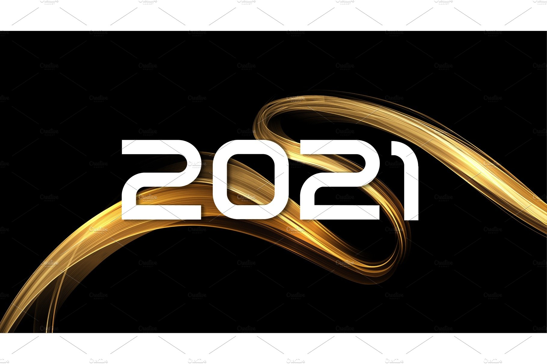 2022 New Year Abstract shiny color Pre Designed Vector