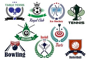 Competitive team sports heraldic emb